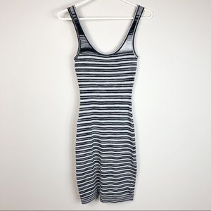Guess Striped Sleeveless Bodycon Dress